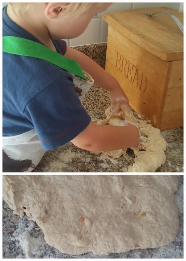 rolling 2 ingredient dough