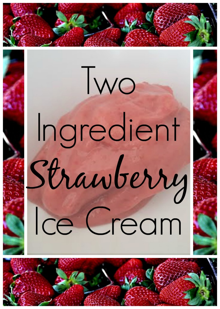 Two Ingredient Clean Eating Strawberry Ice Cream