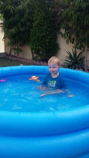 Surviving the heatwave with children life with baby kicks for Pop up paddling pool