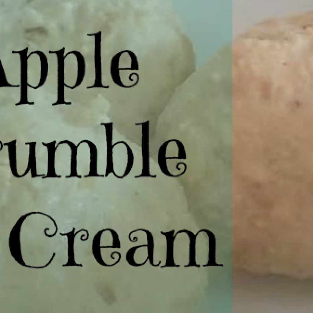 Food for Thought; Apple Crumble Ice Cream