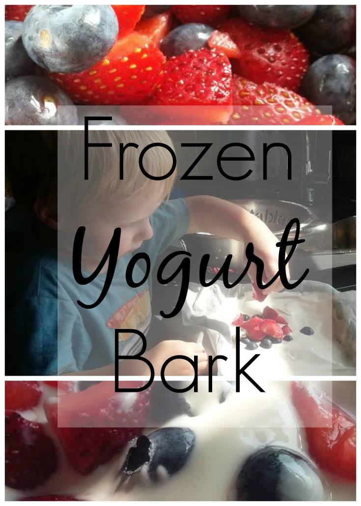 Frozen Yogurt Bark Cooking with Kids