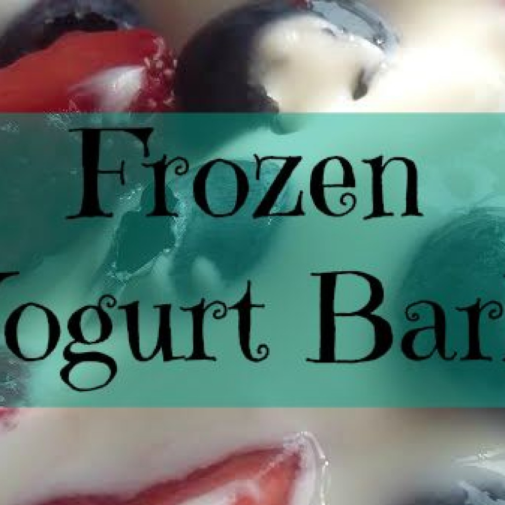 Food for Thought; Frozen Yogurt Bark