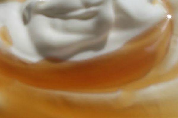 yogurt and maple syrup