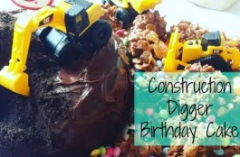 construction digger cake
