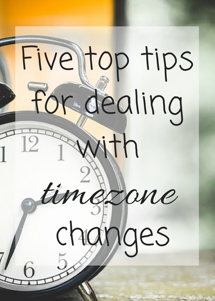 Five top tips for dealing with timezone changes; ways to beat jet lag when you travel with children.