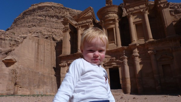 The Toddler outside the Monastery