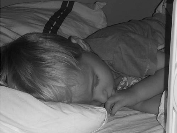 sleeping 3 year old