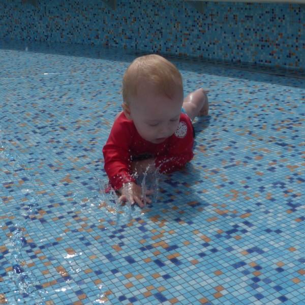 Baby splashing around