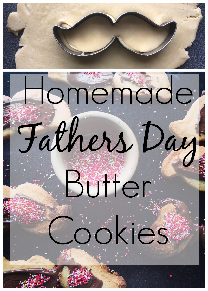 Homemade Simple Butter Cookies for Fathers Day - Cooking with Kids