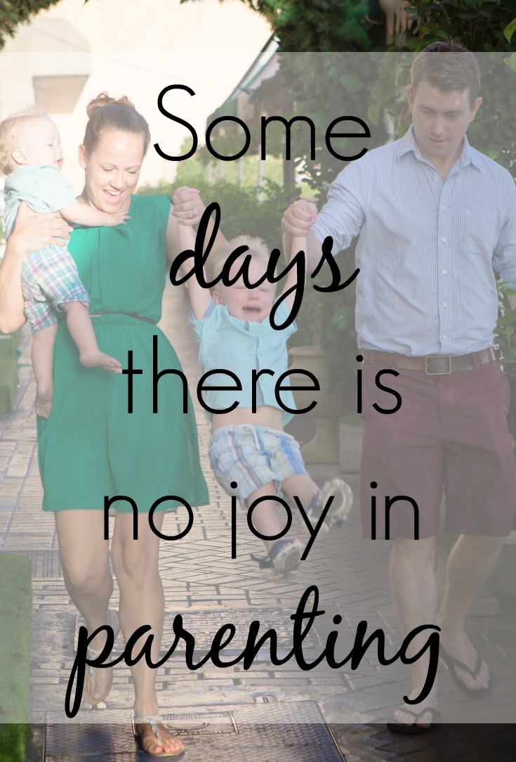 some days there is no joy in parenting pin