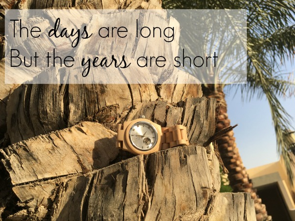 the days are long but the years are short quote jord wood watches #jordwatch