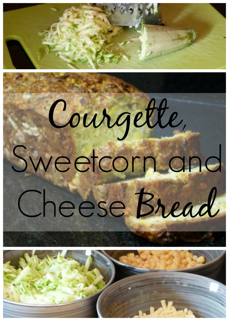 Courgette Sweetcorn and Cheese Bread, Zucchini cheese and sweetcorn bread