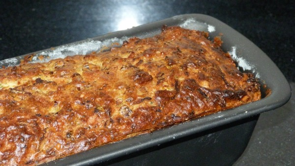 courgette, sweetcorn and cheese bread