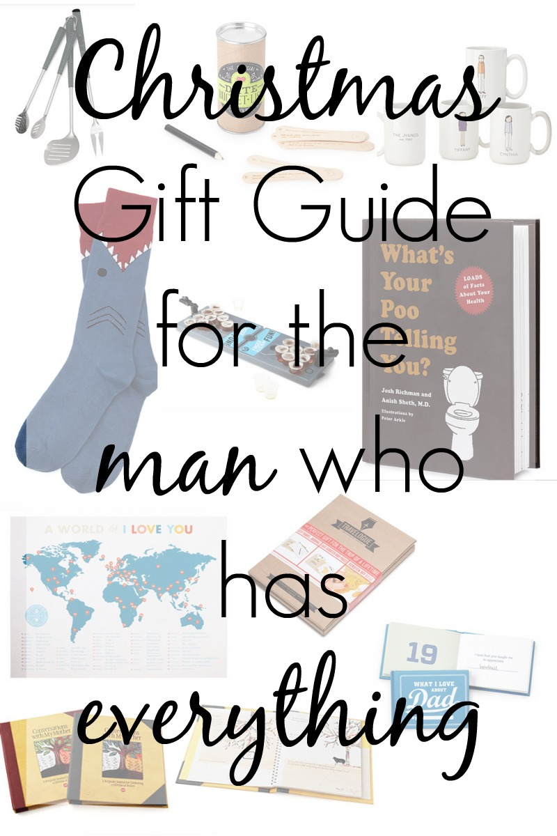 Unique and unusual a christmas gift guide for the man who for What to get for the man who has everything christmas
