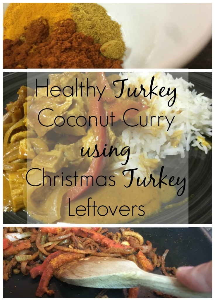Healthy Turkey Coconut Curry, Asian inspired, katsu curry, turkey leftover recipe, turkey curry, clean eating