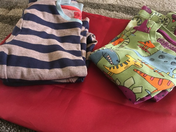 PJs for hand luggage on a long haul night flight with a toddler