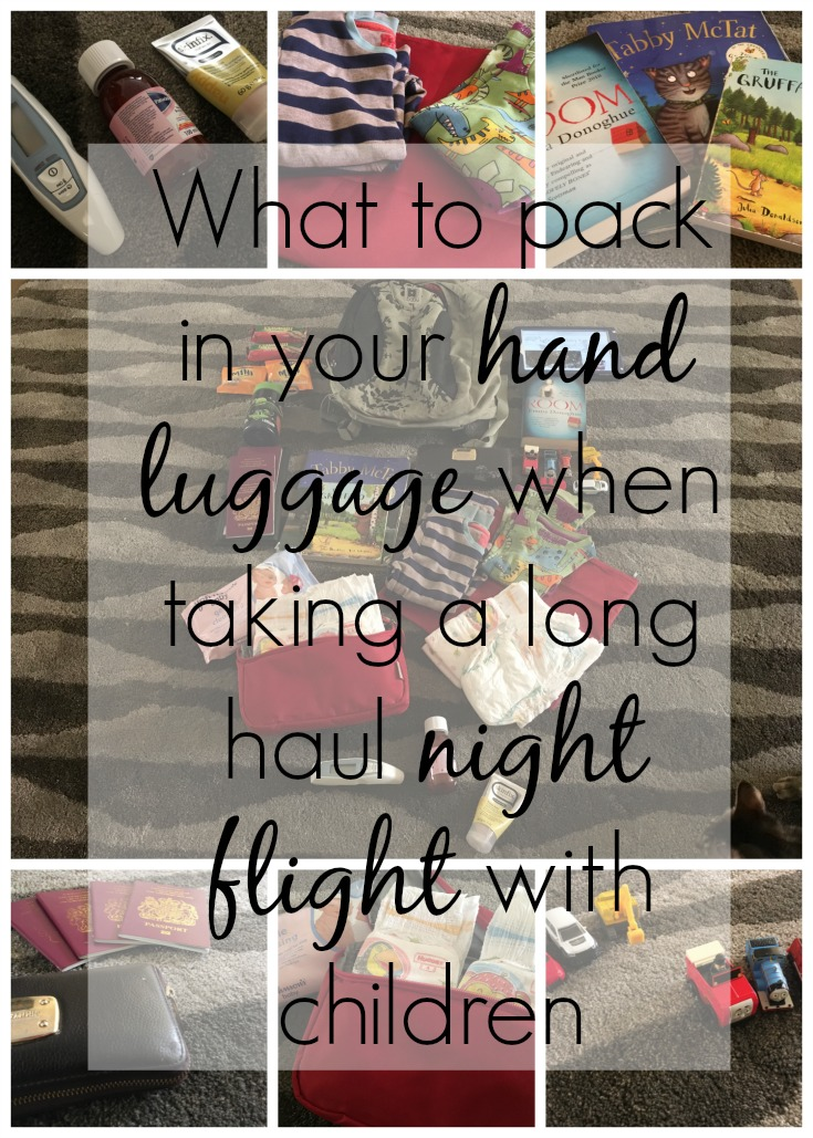 What to pack in your hand luggage when taking a long haul night flight with children