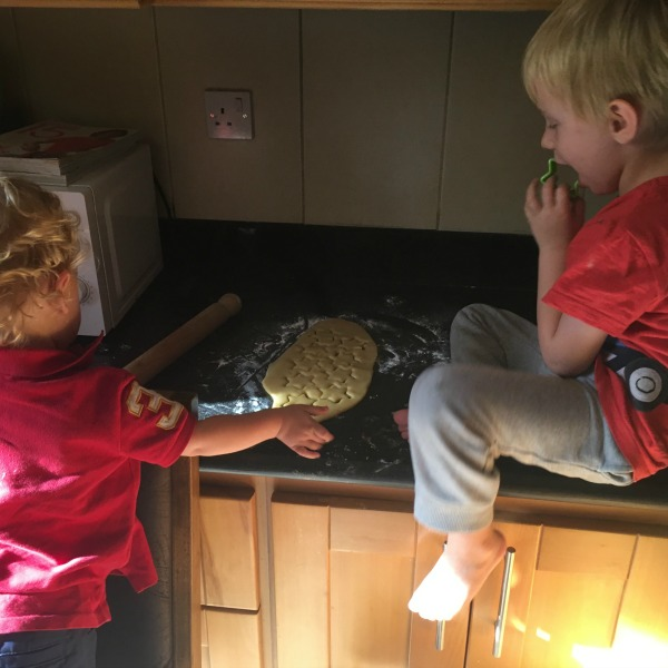children baking festive gingerbread recipe