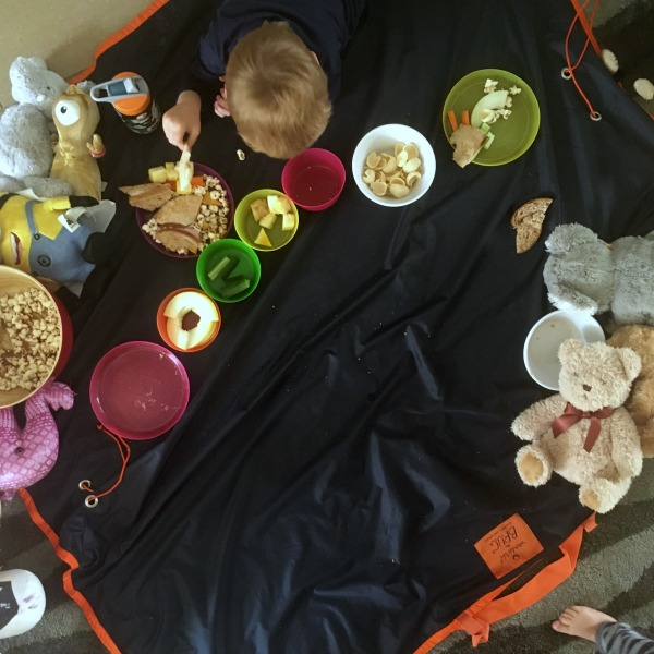 Wunderlife Brug, Bag and rug in one, teddy bear picnic