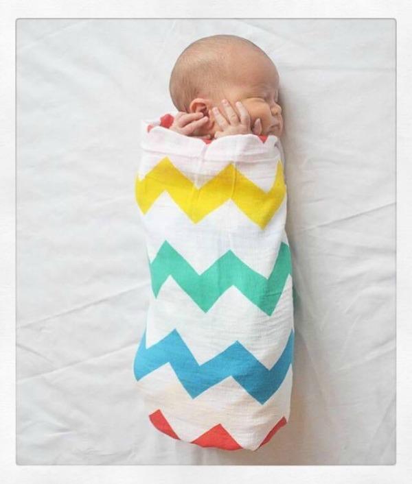 lil cubs muslin blanket