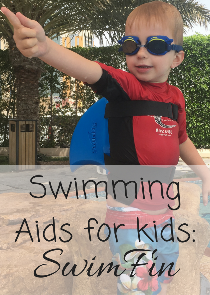 Swimming aids for kids; the SwimFin reviewed. Trying out the SwimFin as a buoyancy aid for a two year old and a swimming aid for a four year old.
