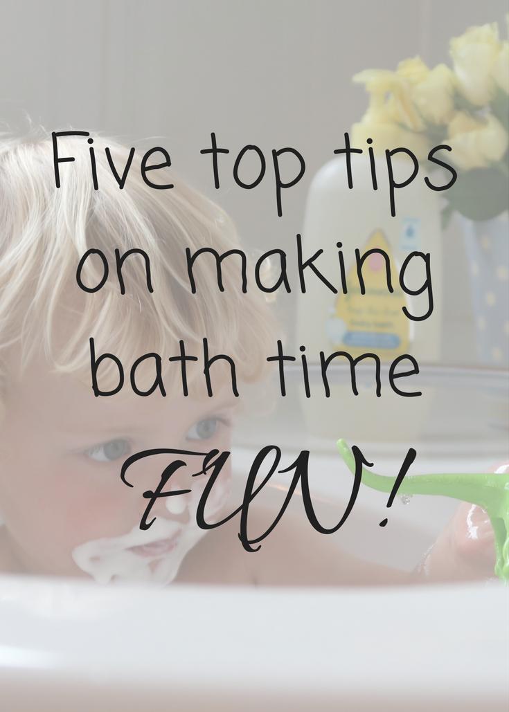 Five top tips on making bath time FUN