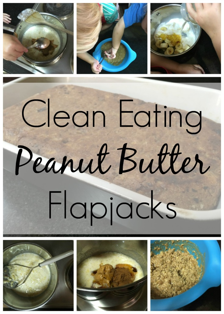 Clean Eating Peanut Butter Flapjacks