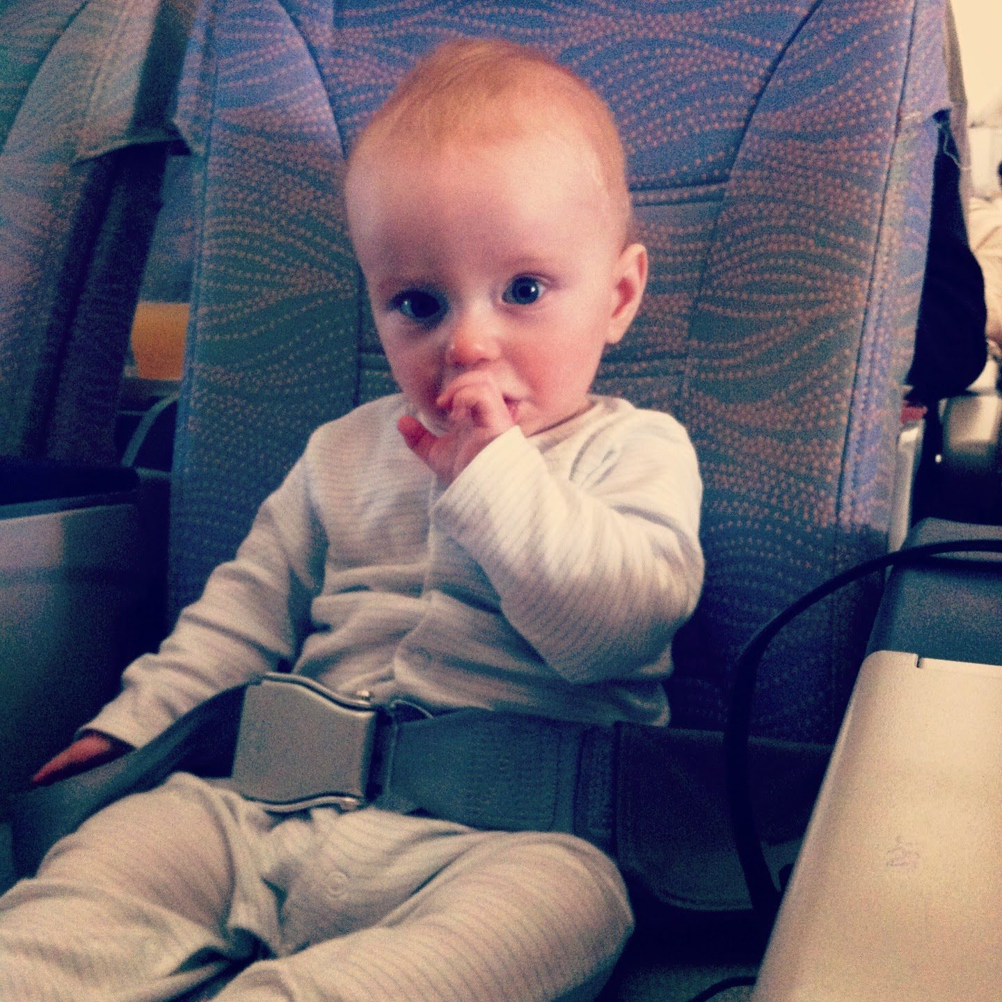 baby on the plane to dubai