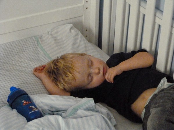 Sleeping Toddler. To my firstborn, being the eldest isn't always easy