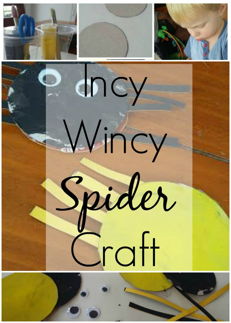 How to make accessories to sing along with the Incy Wincy Spider song , Toddler, Craft, Crafts for Children, Nursery Rhyme Crafts