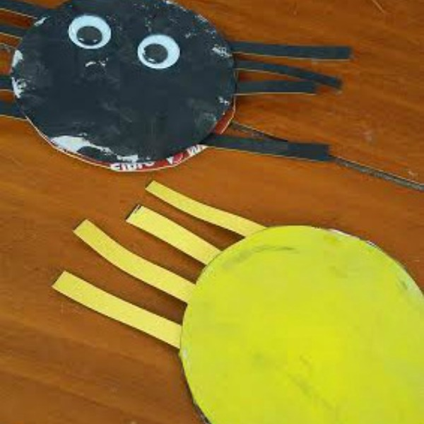 Reversible Spider Toddler Craft