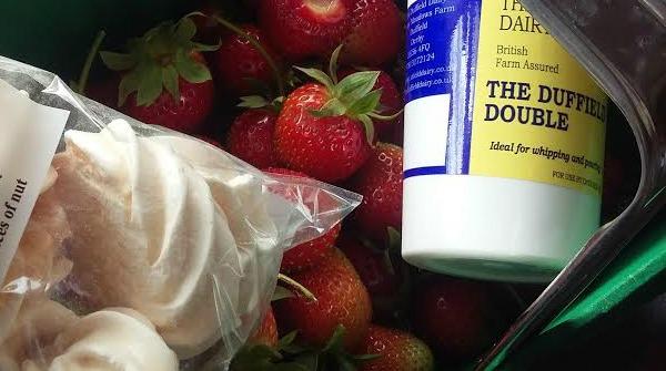 local produce strawberry cream meringue2