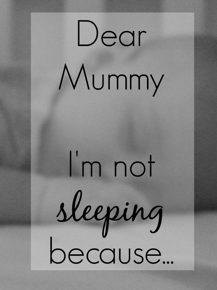 Dear Mummy, I'm not sleeping.... a letter from my 4 month old on his sleep, or lack of