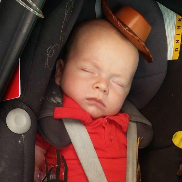 car seat asleep