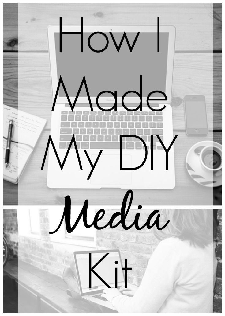 How I Made My DIY Media Kit  Blogging Tips