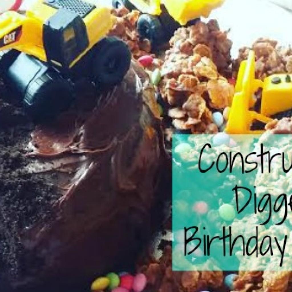 How to make a Construction Digger Cake