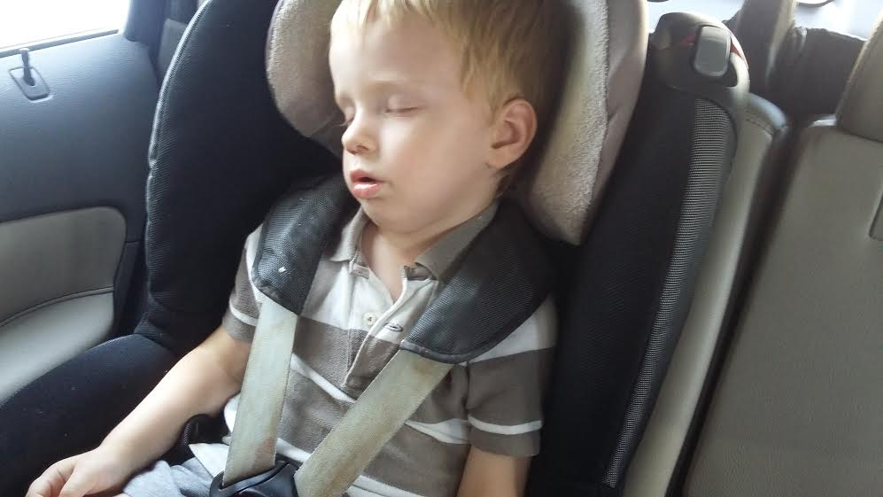 car seat asleep