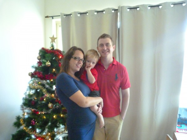 Last Christmas, pregnant and a 2 year old
