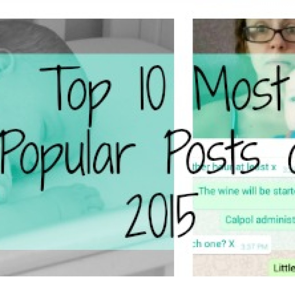 My Top 10 Most Popular Posts from 2015