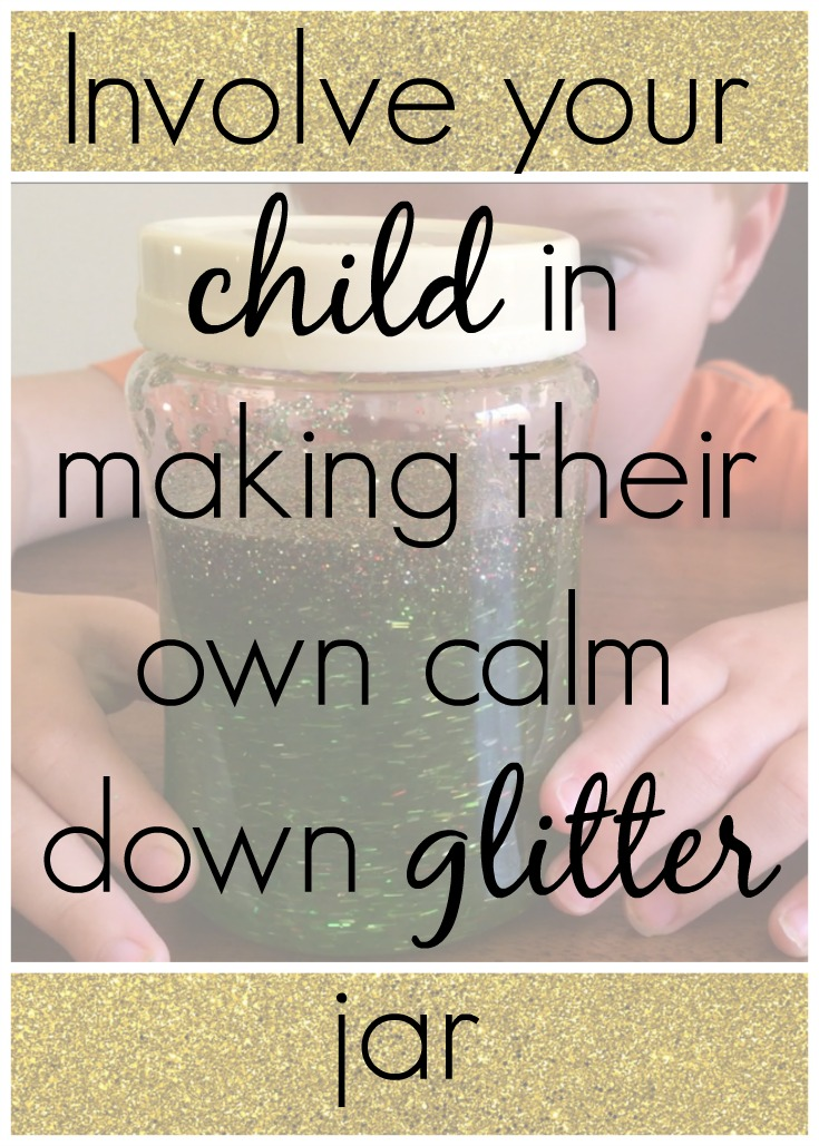 Involve your child in making their own calm down glitter jar