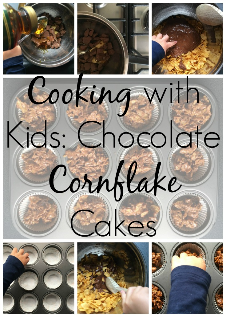cooking with kids chocolate cornflake cakes