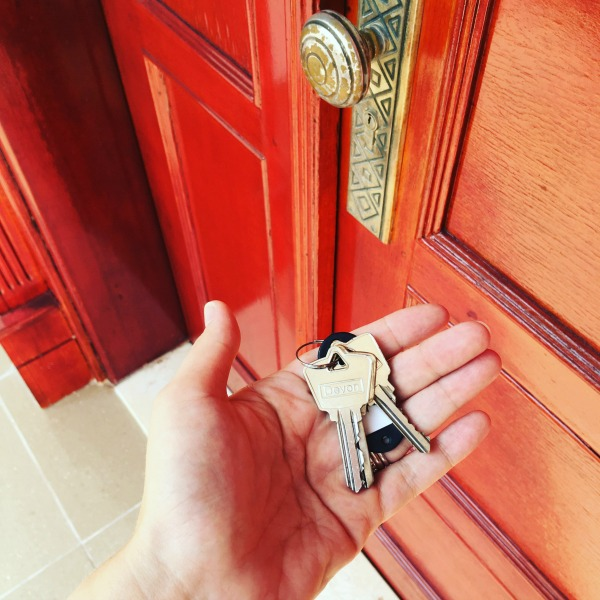 keys to our expat house
