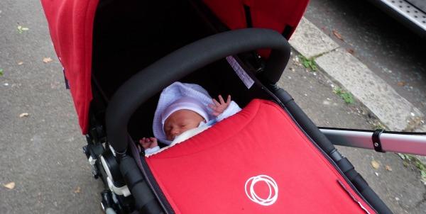 baby in a pram