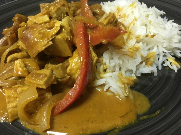 Healthy Coconut Turkey Curry using up those Christmas turkey leftovers