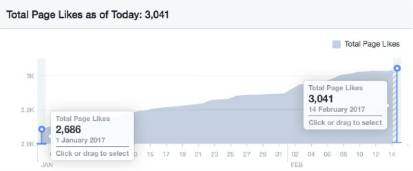How my Facebook page likes have grown