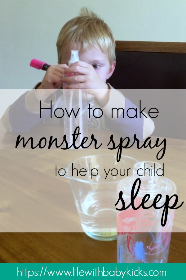 How to make monster spray with your child to help them sleep better at night.