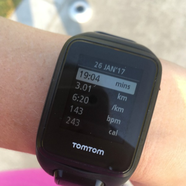 Tomtom cardio watch beginner runner 3km run time