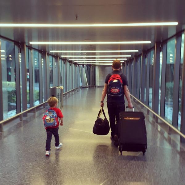 running through the airport