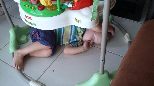 asleep under the jumper