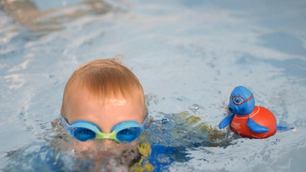 Swimming with Zoggs Water Wings #ZoggsforSprogs